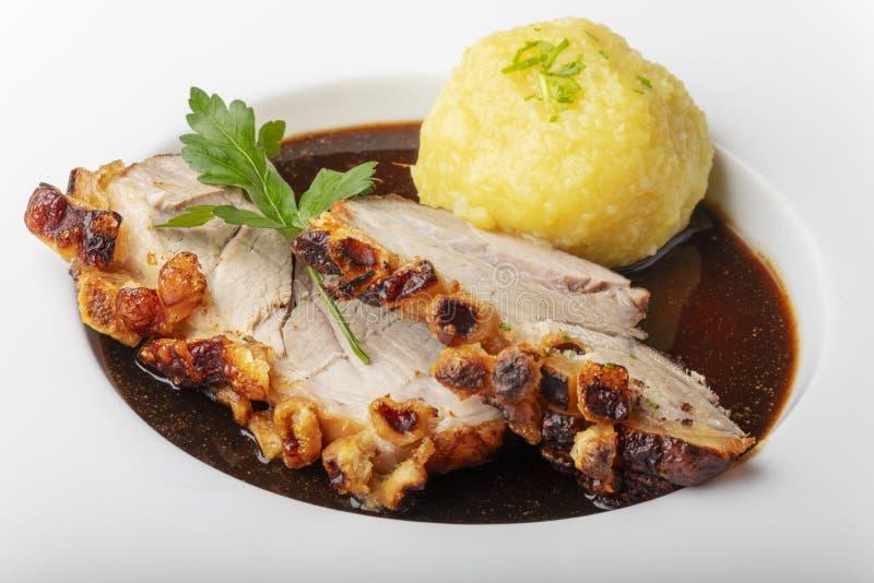 Βαυαρικό ψημένο χοιρινό κρέας στοκ φωτογραφία με δικαίωμα ελεύθερης χρήσης