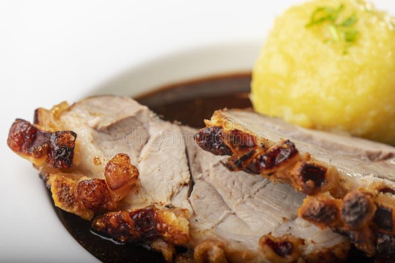 Βαυαρικό ψημένο χοιρινό κρέας στοκ εικόνα