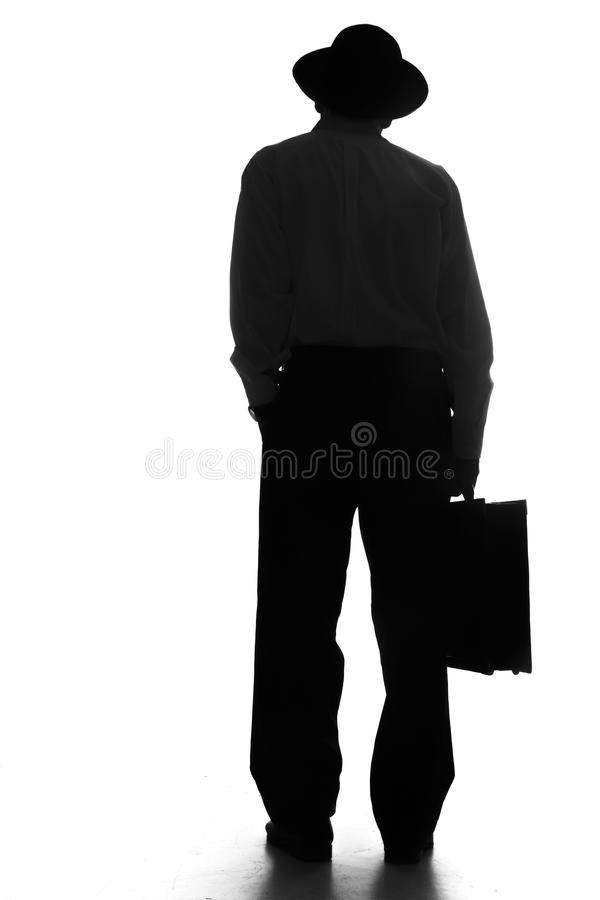 Βαλίτσα εργασίας εκμετάλλευσης επιχειρηματιών στοκ εικόνα