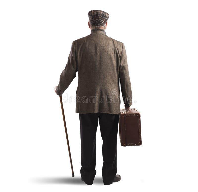 Βαλίτσα και ραβδί στοκ εικόνες με δικαίωμα ελεύθερης χρήσης