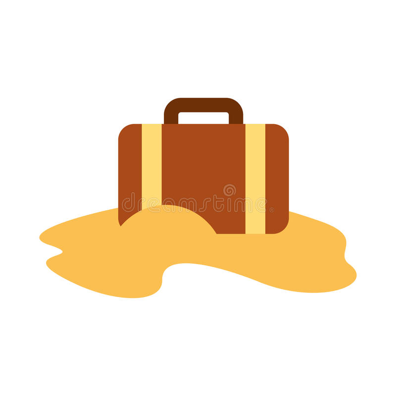 Βαλίτσα ταξιδιού με την άμμο διανυσματική απεικόνιση