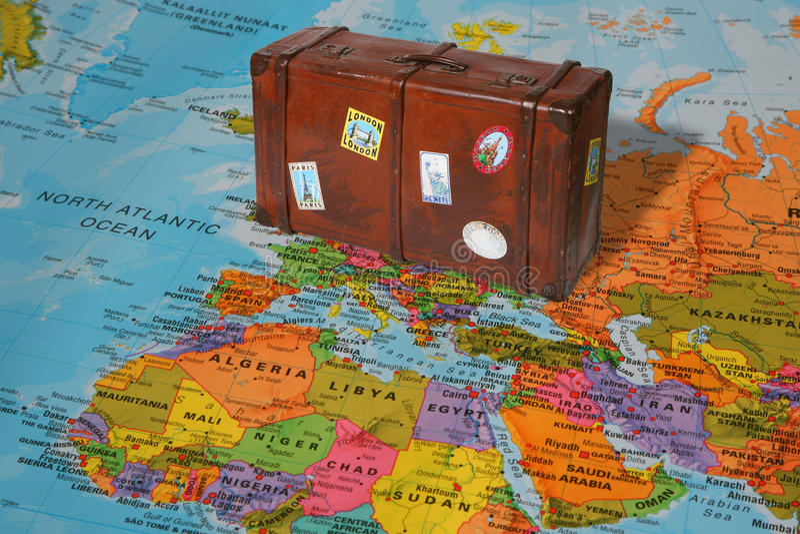 Βαλίτσα ταξιδιού στοκ φωτογραφίες