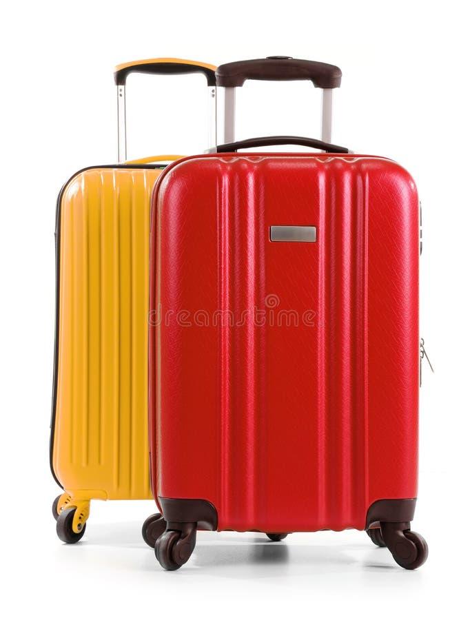 Βαλίτσες ταξιδιού που απομονώνονται στο άσπρο υπόβαθρο στοκ φωτογραφία με δικαίωμα ελεύθερης χρήσης