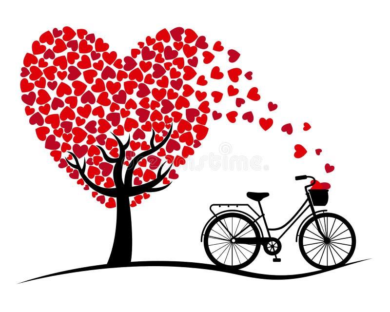 βαλεντίνος μορφής αγάπης καρδιών καρτών απεικόνιση αποθεμάτων