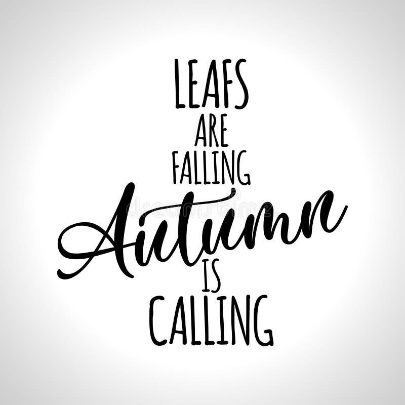 Βγάζει φύλλα πέφτει, το φθινόπωρο καλεί διανυσματική απεικόνιση