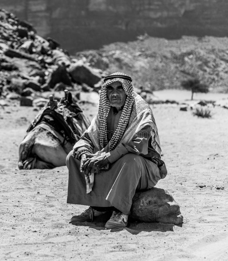 Βεδουίνος γραπτός στοκ εικόνες