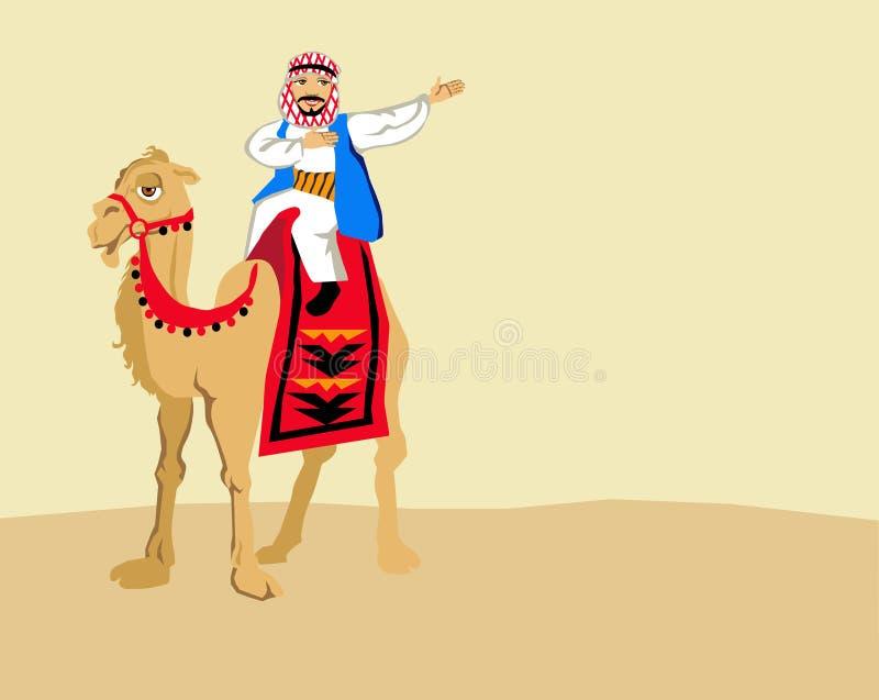 Βεδουίνος και καμήλες ελεύθερη απεικόνιση δικαιώματος