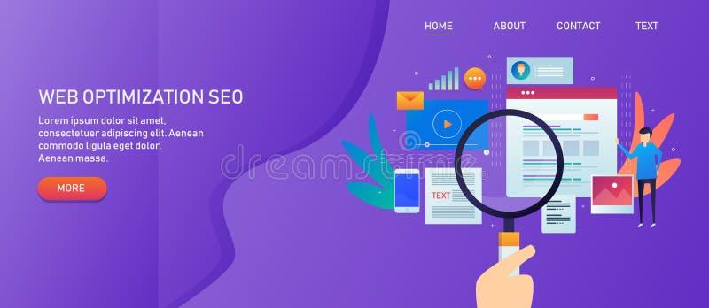 Βελτιστοποίηση μηχανών αναζήτησης, seo ιστοχώρου, μάρκετινγκ περιεχομένου και κοινωνική προώθηση στα μέσα μαζικής ενημέρωσης, χέρ απεικόνιση αποθεμάτων