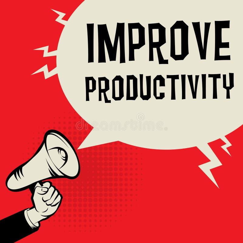 Βελτιώστε την επιχειρησιακή έννοια παραγωγικότητας απεικόνιση αποθεμάτων