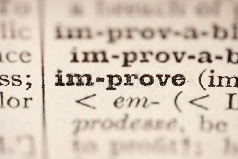 βελτιώστε τη λέξη στοκ φωτογραφίες με δικαίωμα ελεύθερης χρήσης