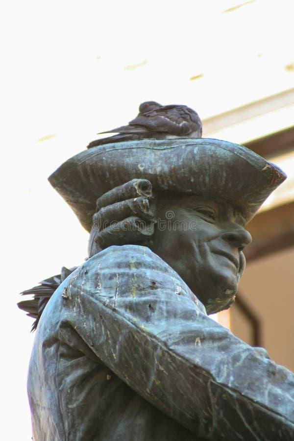 Βενετία, άγαλμα χαλκού Goldoni στοκ εικόνα