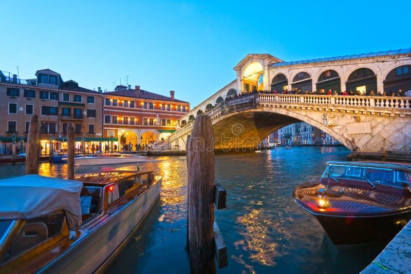 Βενετία, γέφυρα Rialto. στοκ εικόνα