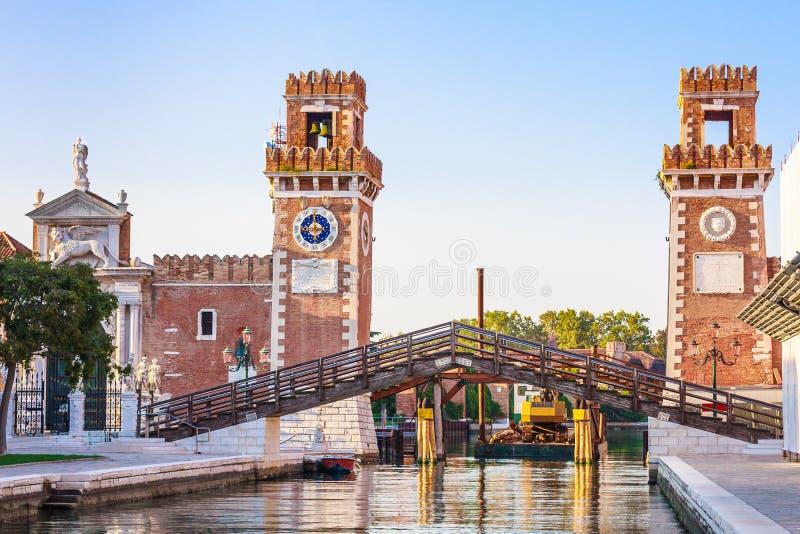 Βενετία, ιστορικό ναυπηγείο Arsenale στοκ φωτογραφία με δικαίωμα ελεύθερης χρήσης