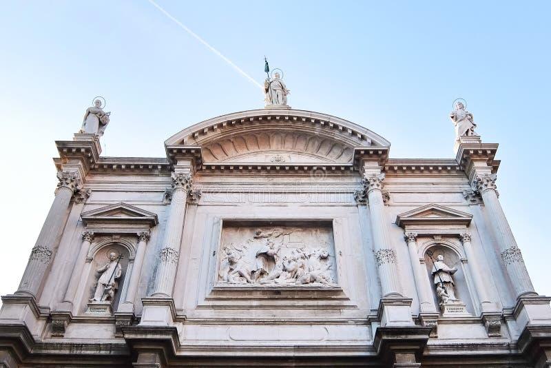 Βενετία, Ιταλία Πρόσοψη της καθολικής εκκλησίας στη Βενετία Chiesa Di SAN Rocco στοκ φωτογραφία με δικαίωμα ελεύθερης χρήσης