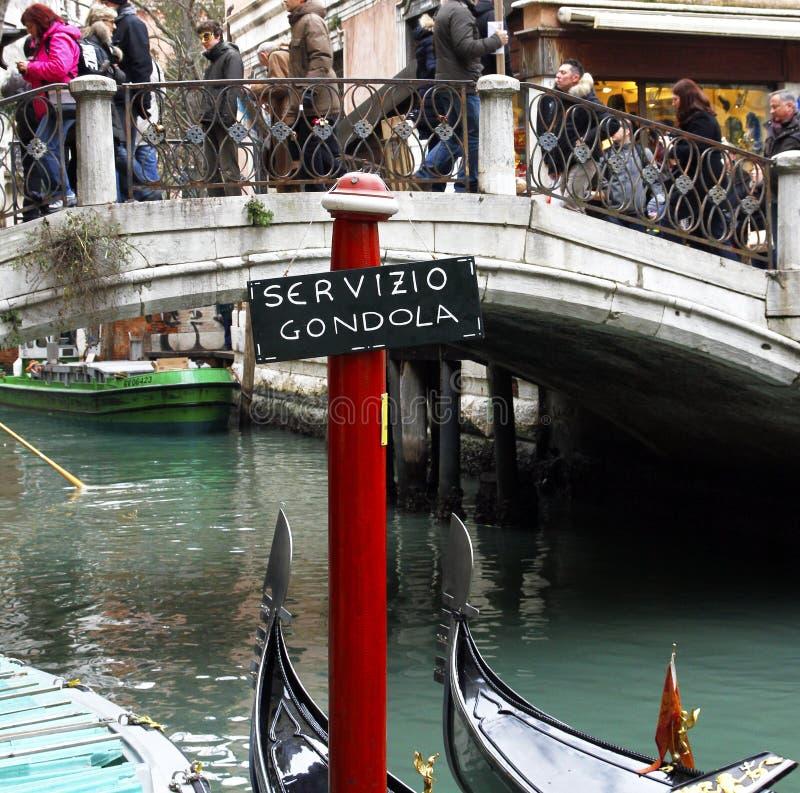 Βενετία, Ιταλία - υπηρεσία γονδολών στοκ εικόνες