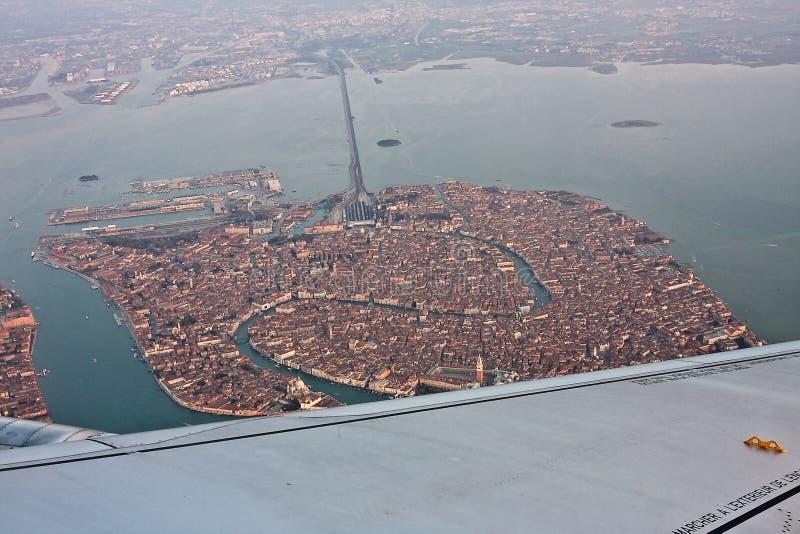Βενετία, Ιταλία, από τον αέρα στοκ εικόνες