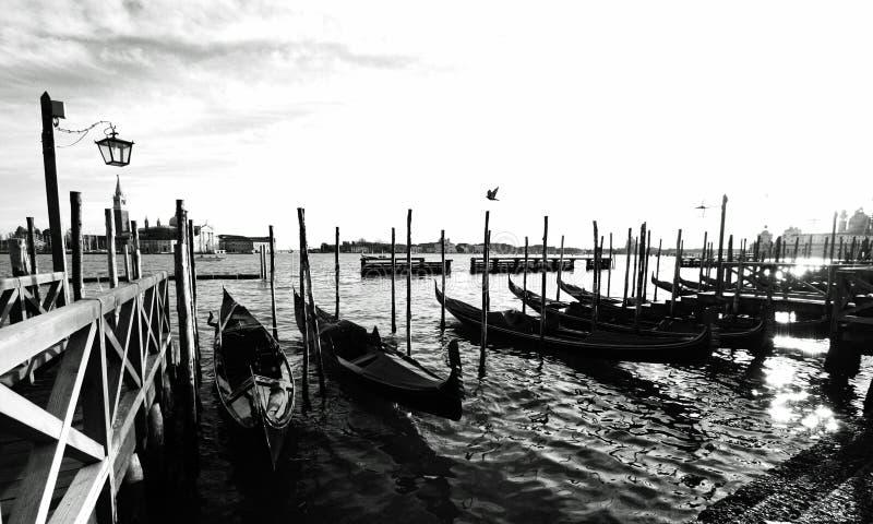 Βενετία, Ιταλία με έναν γοητευτικό γύρο γονδολών στοκ φωτογραφία με δικαίωμα ελεύθερης χρήσης