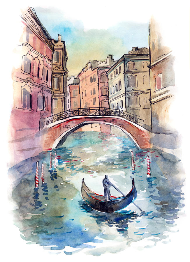 Βενετία απεικόνιση αποθεμάτων