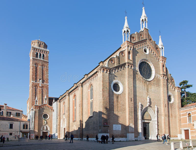 Βενετία - dei Frari Di Σάντα Μαρία Gloriosa βασιλικών εκκλησιών. στοκ φωτογραφία