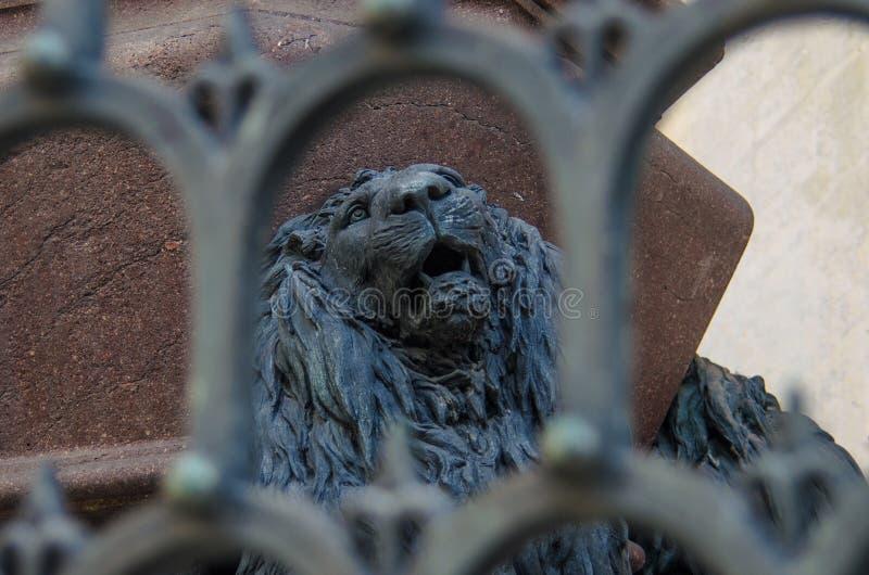 ΒΕΝΕΤΙΑ ΙΤΑΛΙΑ - 29 ΣΕΠΤΕΜΒΡΊΟΥ 2017: Γλυπτό του λιονταριού του ST Mark ` s στοκ φωτογραφία με δικαίωμα ελεύθερης χρήσης
