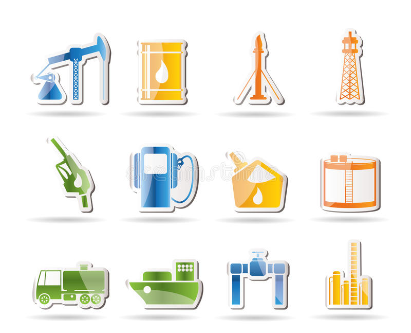 βενζίνη πετρελαίου βιομ&e διανυσματική απεικόνιση
