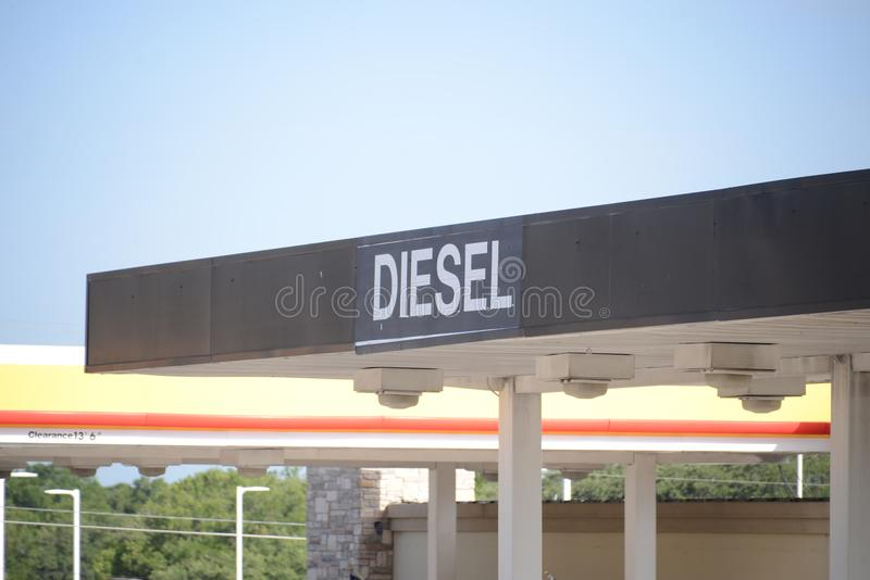 Βενζινάδικο diesel πετρελαίου στοκ φωτογραφία