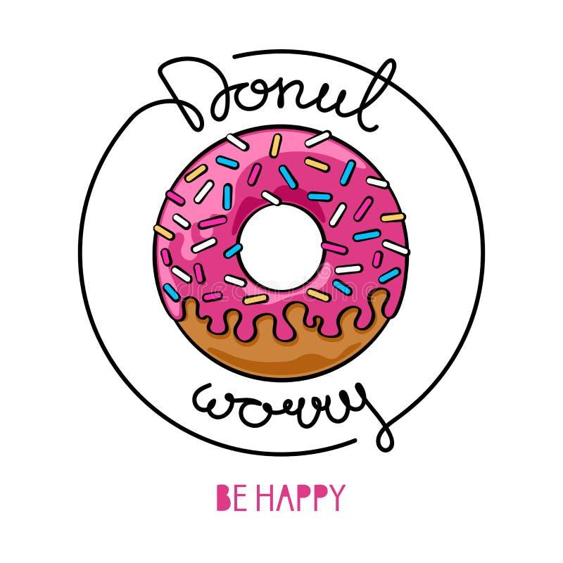 Βερνικωμένη doughnut αφίσα στοκ εικόνες