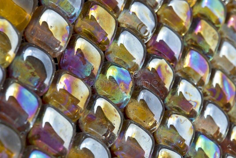 βερνικωμένο γυαλί μωσαϊκό μετάλλων στοκ φωτογραφία με δικαίωμα ελεύθερης χρήσης