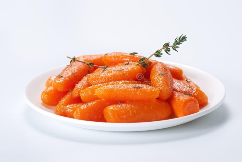 βερνικωμένο καρότα μέλι μω&rh στοκ φωτογραφία