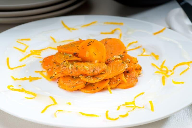 βερνικωμένο καρότα μέλι στοκ εικόνες