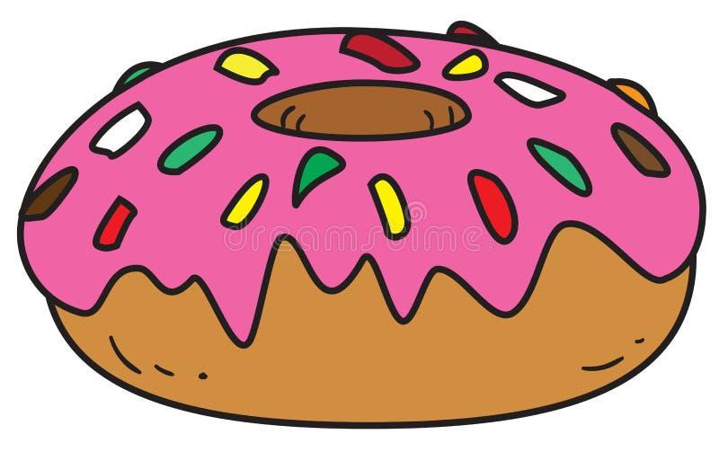 Βερνικωμένο doughnut Doodle απεικόνιση αποθεμάτων