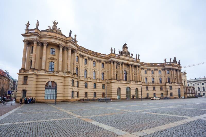 19 01 2018 Βερολίνο, Γερμανία - το πανεπιστήμιο Humboldt του Βερολίνου ι στοκ φωτογραφία