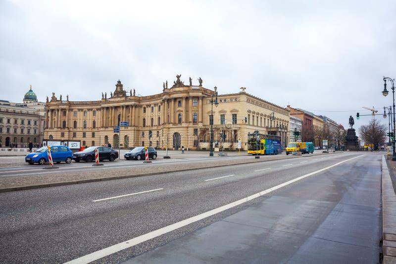 19 01 2018 Βερολίνο, Γερμανία - το πανεπιστήμιο Humboldt του Βερολίνου ι στοκ εικόνα