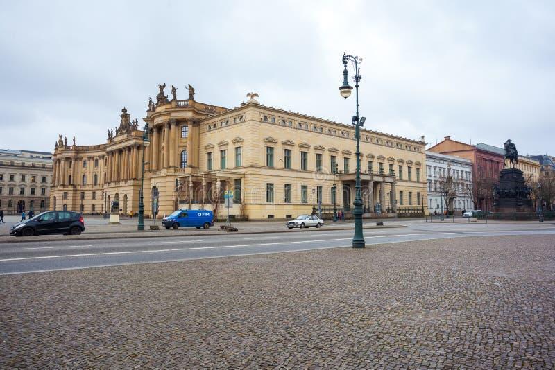 19 01 2018 Βερολίνο, Γερμανία - το πανεπιστήμιο Humboldt του Βερολίνου ι στοκ εικόνες