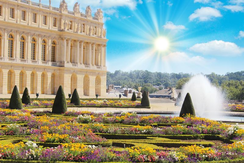 Βερσαλλίες, Γαλλία: Κήποι του παλατιού των Βερσαλλιών κοντά στο Παρίσι, Γαλλία στοκ φωτογραφία