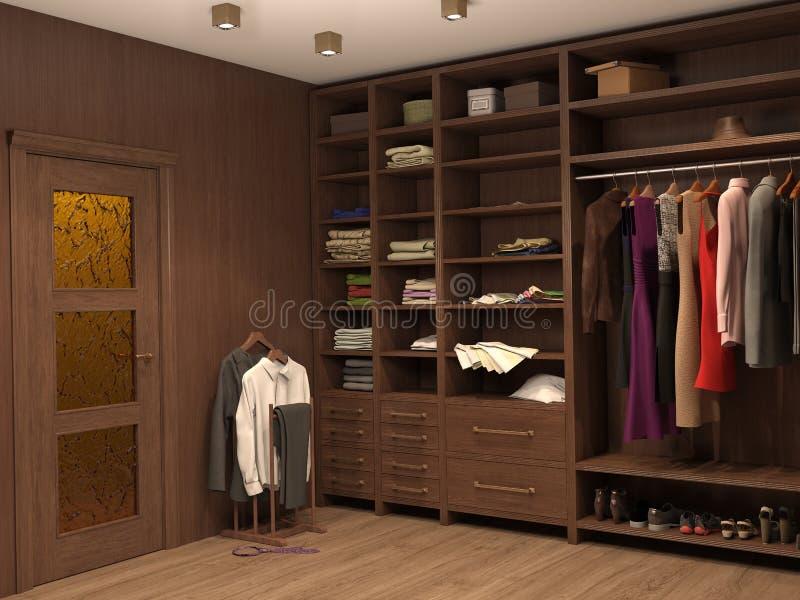 Βεστιάριο, εσωτερικό ενός σύγχρονου σπιτιού διανυσματική απεικόνιση