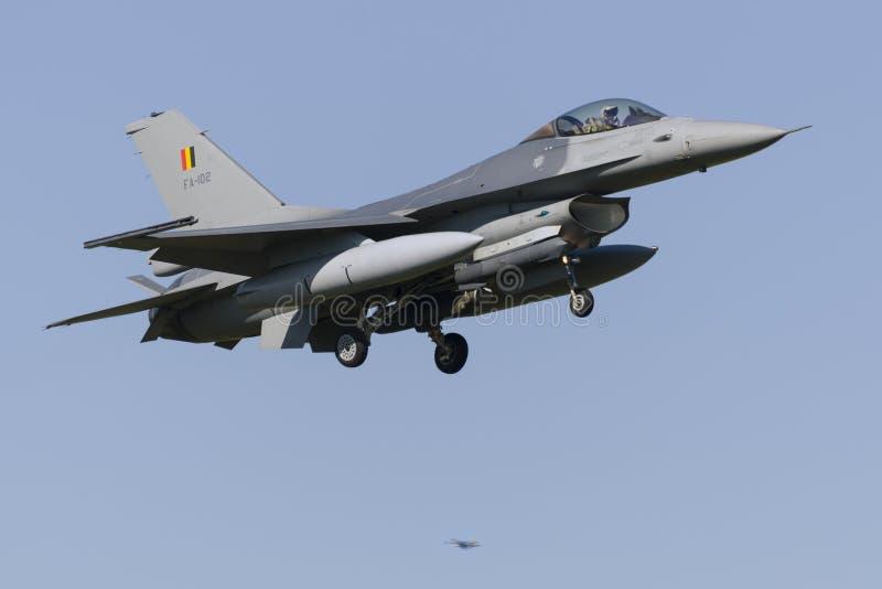 Βελγικό F-16 στο leeeuwarden στοκ εικόνες