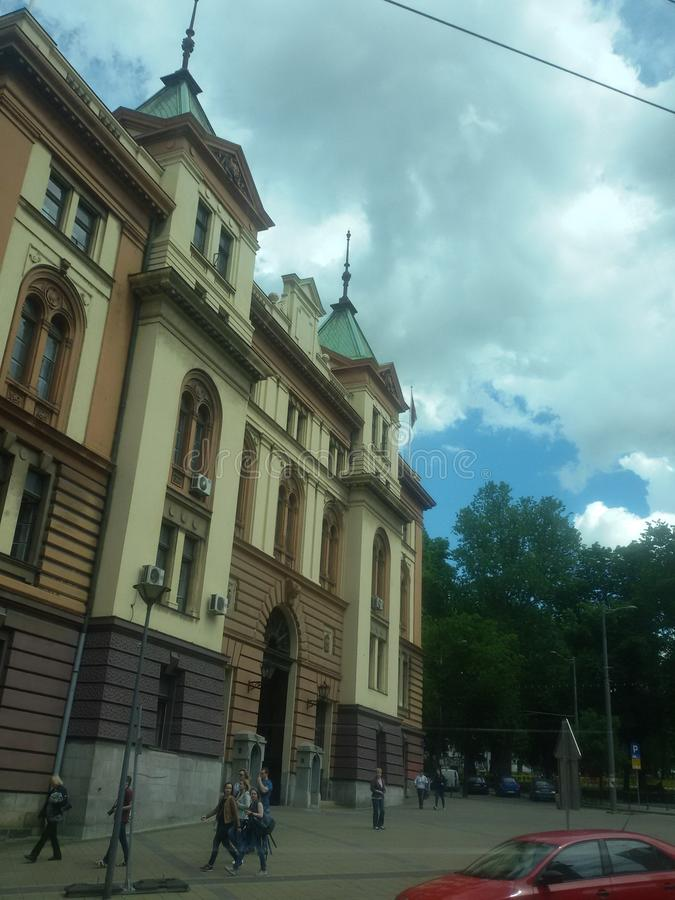 Βελιγράδι στα σύννεφα στοκ εικόνα με δικαίωμα ελεύθερης χρήσης