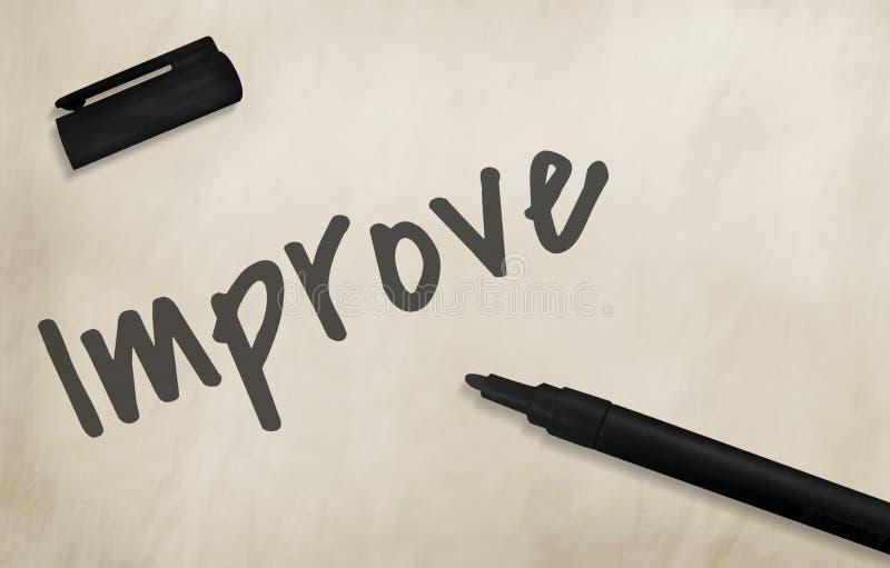 Βελτιωθείτε έννοια κινήτρου αποδοτικότητας διανυσματική απεικόνιση