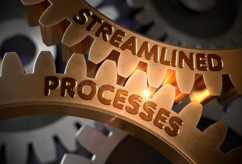 Βελτιωμένες διαδικασίες στα χρυσά εργαλεία τρισδιάστατη απεικόνιση απεικόνιση αποθεμάτων