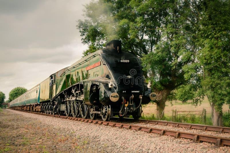 Βελτιωμένο τραίνο ατμού στοκ εικόνες με δικαίωμα ελεύθερης χρήσης