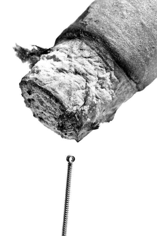 Βελόνα βελονισμού και πούρο moxibustion στοκ φωτογραφία με δικαίωμα ελεύθερης χρήσης