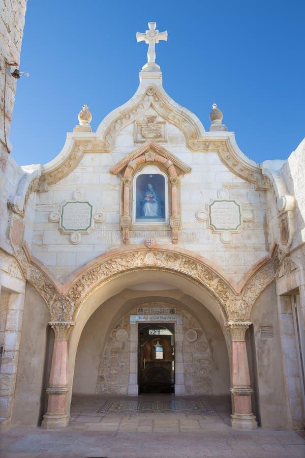 Βηθλεέμ - η πρόσοψη της σπηλιάς του παρεκκλησιού Grotto γάλακτος στοκ εικόνα με δικαίωμα ελεύθερης χρήσης