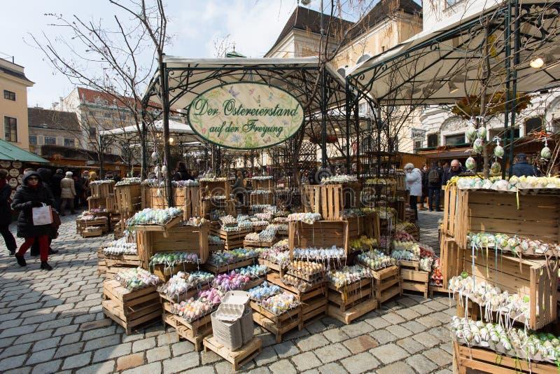 Παραδοσιακή αγορά Πάσχας στη Βιέννη στοκ εικόνες