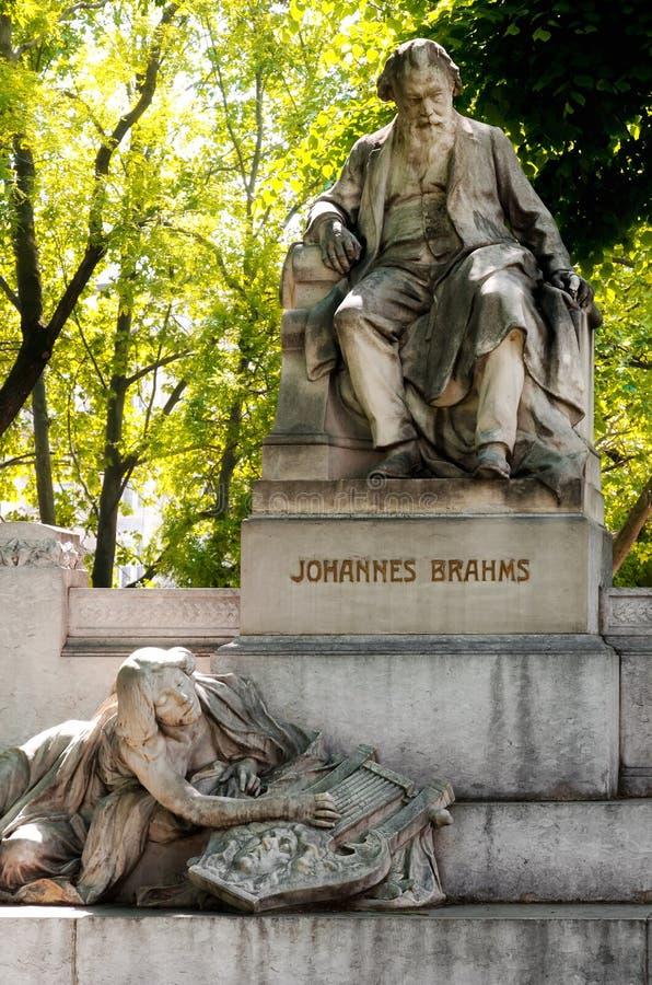 Βιέννη, μνημείο του Johannes Brahms στοκ φωτογραφία με δικαίωμα ελεύθερης χρήσης