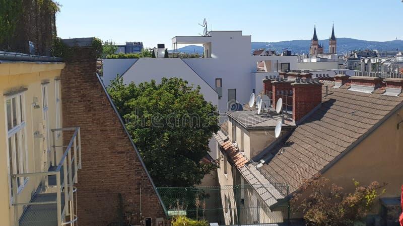 Βιέννη, μουσεία πιό quartier στοκ εικόνες