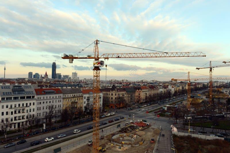 Βιέννη - πρωτεύουσα της Αυστρίας Σύμφωνα με τα αποτελέσματα του υφασματεμπόρου ερευνητικών αντιπροσωπειών, η Βιέννη πήρε την πρώτ στοκ εικόνες