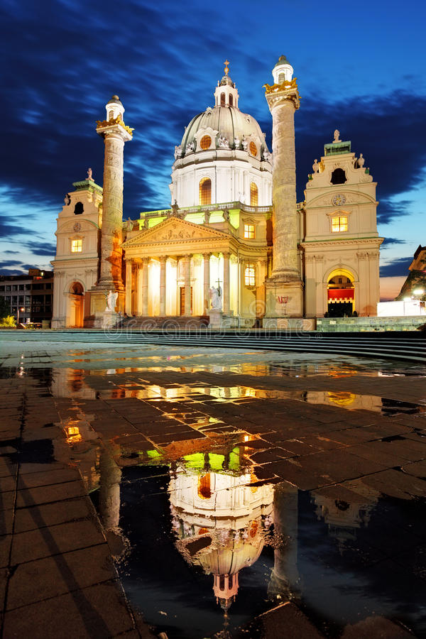 Βιέννη Karlskirche, Αυστρία στοκ εικόνα