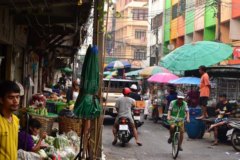 Βιασύνη οδών στη Μπανγκόκ, αγορές στοκ εικόνες με δικαίωμα ελεύθερης χρήσης