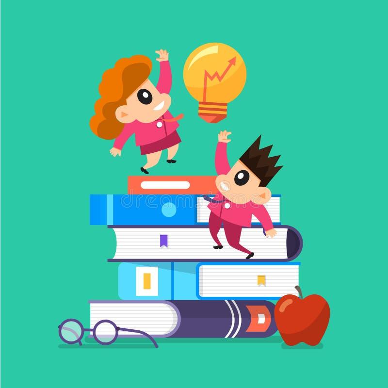 Βιβλία εκπαιδεύσεων παιδιών ελεύθερη απεικόνιση δικαιώματος